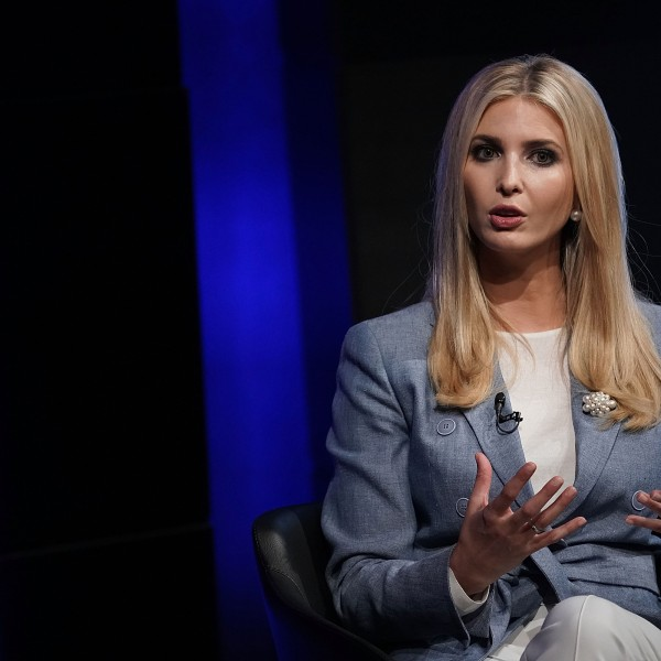 Ivanka Trump, White House adviser and daughter of President Donald Trump, speaks during an Axios360 News Shapers event at the Newseum in Washington, D.C. on Aug. 2, 2018. (Credit: Alex Wong/Getty Images)