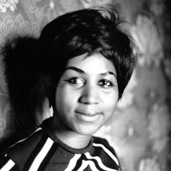 American soul singer Aretha Franklin, seen when she was a star on the Atlantic record label. (Credit: Express Newspapers/Getty Images)