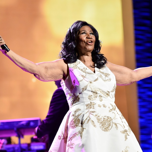 Aretha Franklin performs onstage during the Tribeca Film Festival at Radio City Music Hall in New York City on April 19, 2017. (Credit: Theo Wargo / Getty Images)
