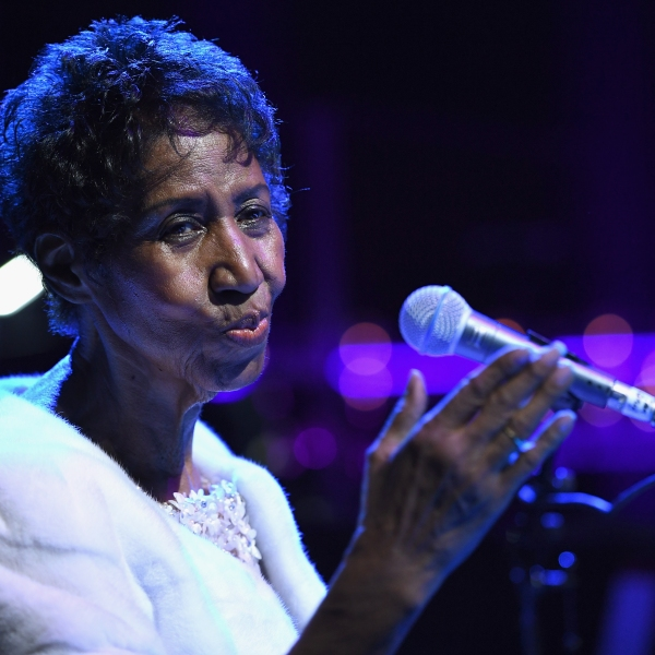 Aretha Franklin performs onstage at the Elton John AIDS Foundation on Nov. 7, 2017, in New York City. (Credit: Dimitrios Kambouris / Getty Images)