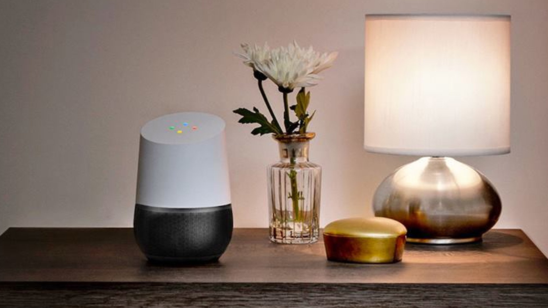 A Google Home smart speaker is visible in this file photo. (Credit: Google)