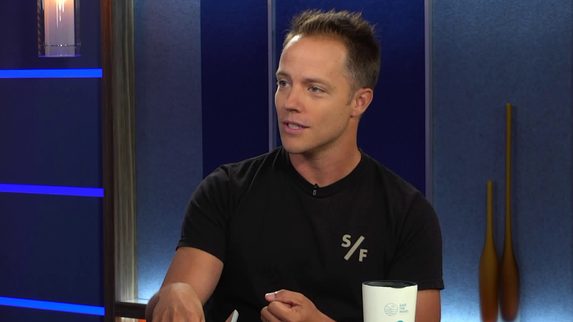 Graham Hamilton, chairman of Surfrider Foundation's L.A. chapter, discusses beach cleanups during an appearance on KTLA 5 Live on Aug. 6, 2018. (Credit: KTLA)