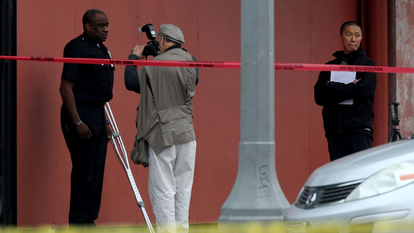 Ex-LAPD Officer Clifford Proctor, left, is seen in an undated photo. (Credit: Irfan Khan / Los Angeles Times)