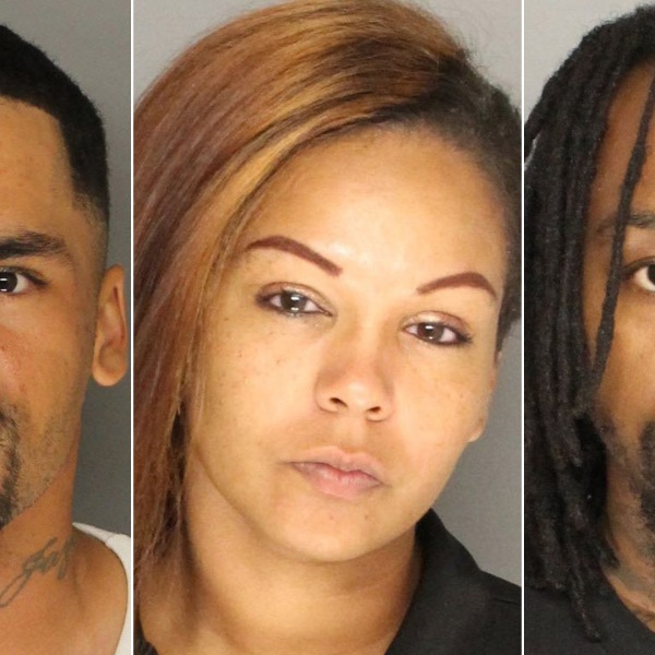 Jason Buchanan, Danay Granville and Tyrone O'Neal are seen in booking photos provided by the Santa Barbara County Sheriff's Office on Aug. 28, 2018.