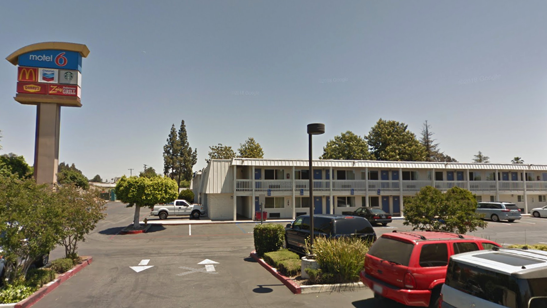 A Motel 6 in Claremont is seen in a Google Maps Street View image from May 2017.