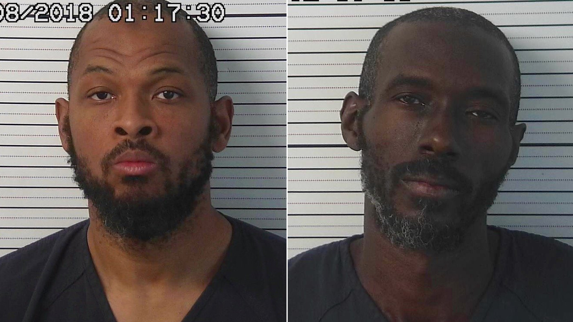 The Taos County Sheriff's Office released these booking photos of Siraj Wahhaj, left, and Lucas Morten, right.