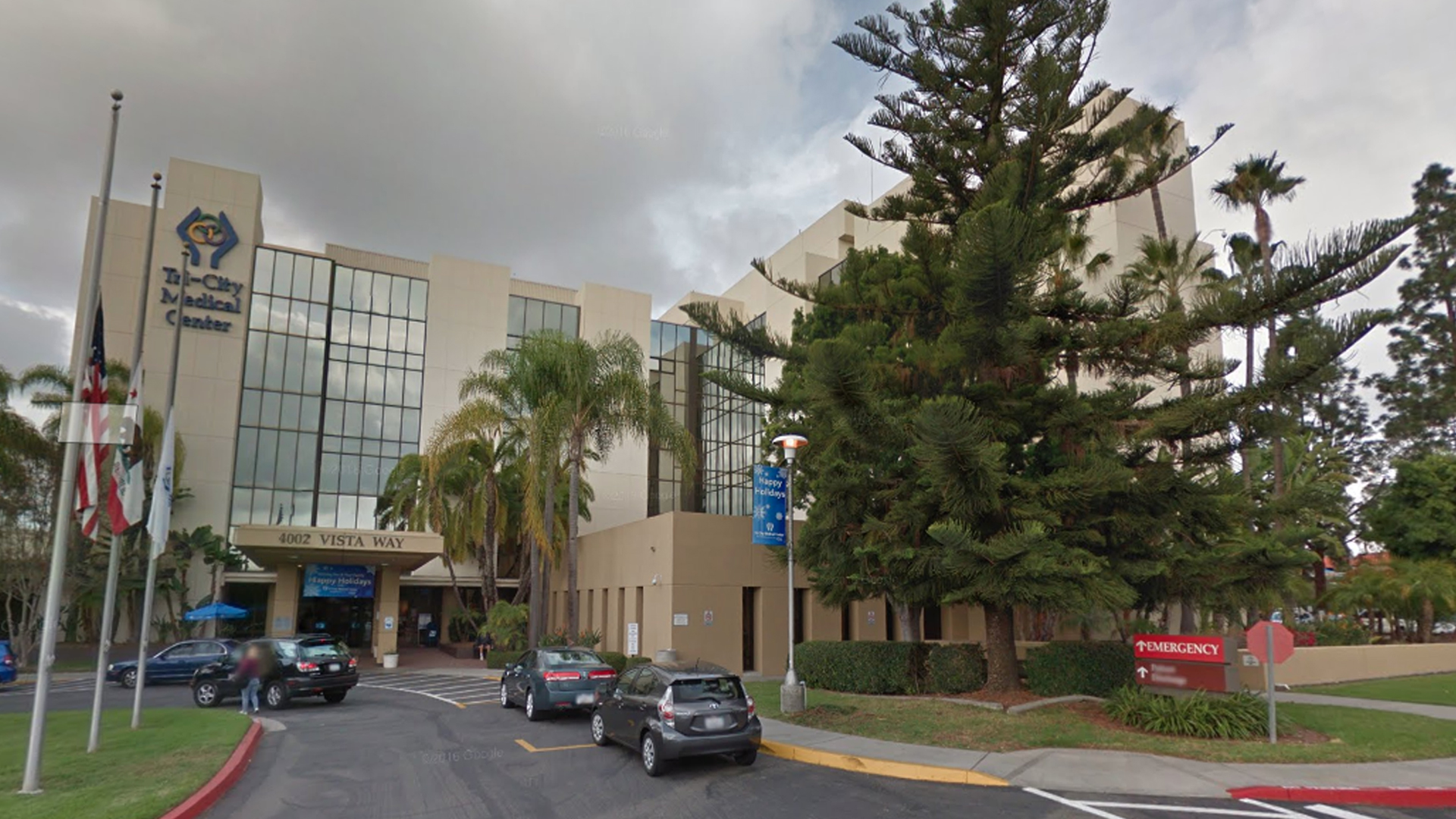 Tri-City Medical Center in Oceanside is seen in a Google Maps Street View image from December 2016.