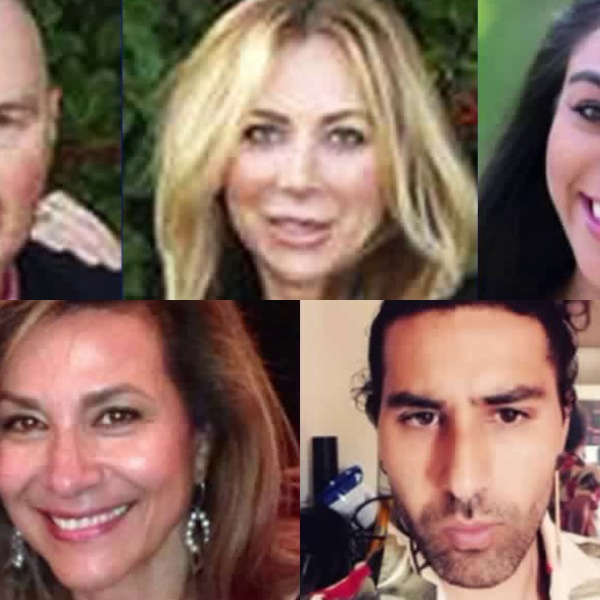 Undated images posted to social media show Scott and Lara Shepherd, Nasim Ghanadan and Floria and Navid Hakimi.