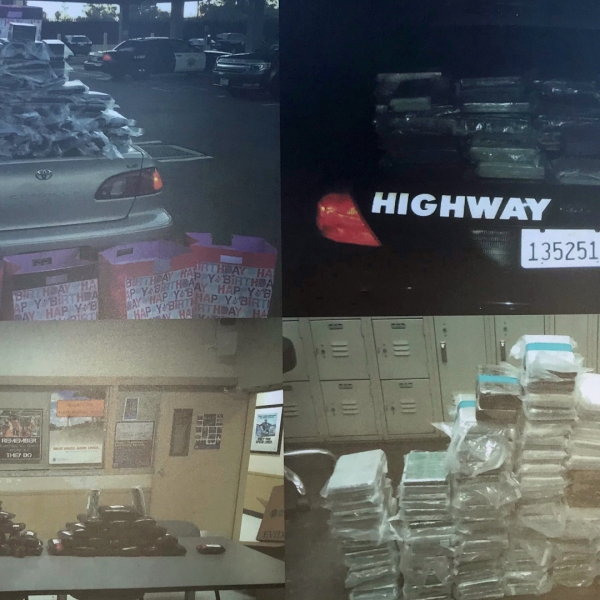 FBI officials on Aug. 8, 2018 released these photos of drugs and money allegedly smuggled during trafficking operations involving the Sinaloa Cartel.