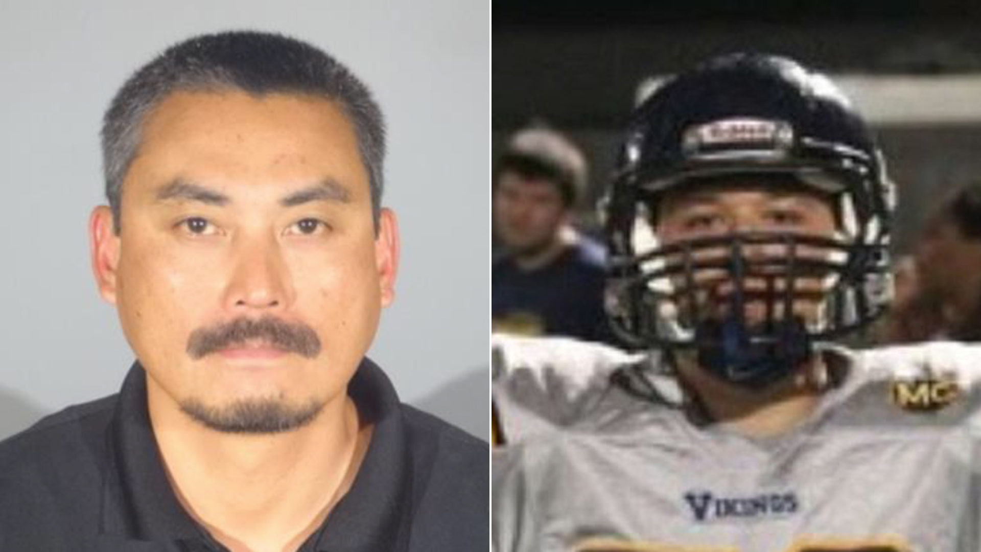 Sherwin Mendoza Espinosa, left, is seen in a booking photo released Aug. 22, 2018, by Santa Monica police. At right, Juan Castillo is seen in an undated photo from a GoFundMe page.