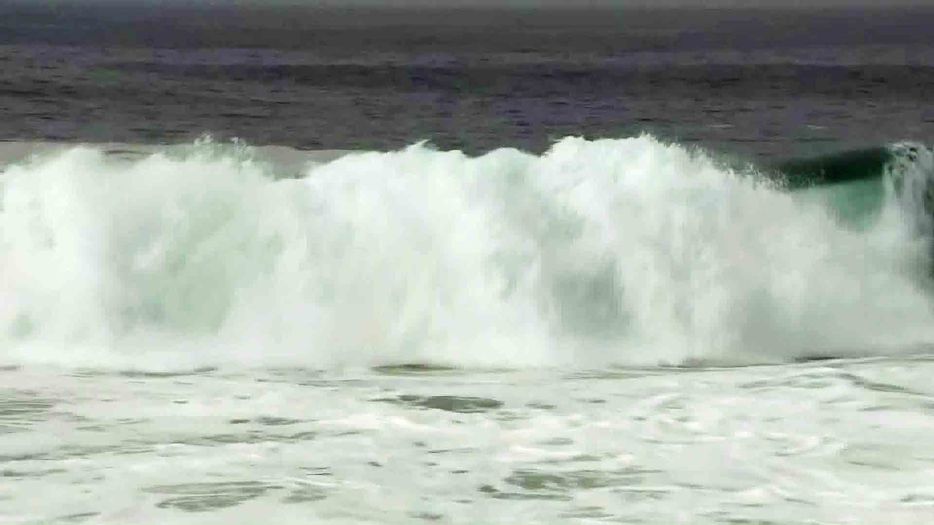 High surf pounds the Los Angeles County coast in this file photo. (Credit: KTLA)