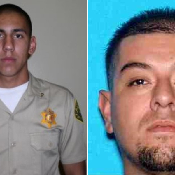 Cesar Rodriguez, left, and Larry Villegas are shown in photos released by the Los Angeles County Sheriff's Department.