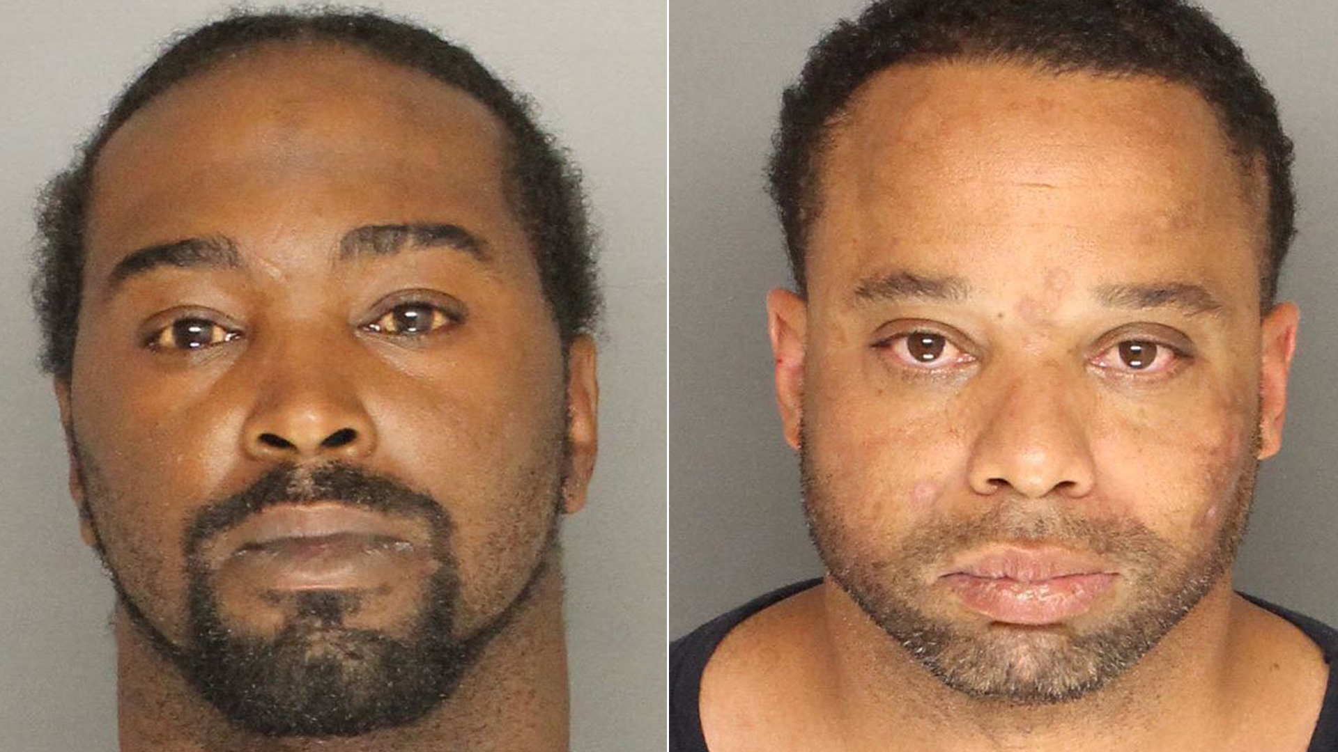 Tyrone Taylor and Henry Jernigan are seen in booking photos provided by the Santa Barbara County Sheriff's Office on Aug. 30, 2018.