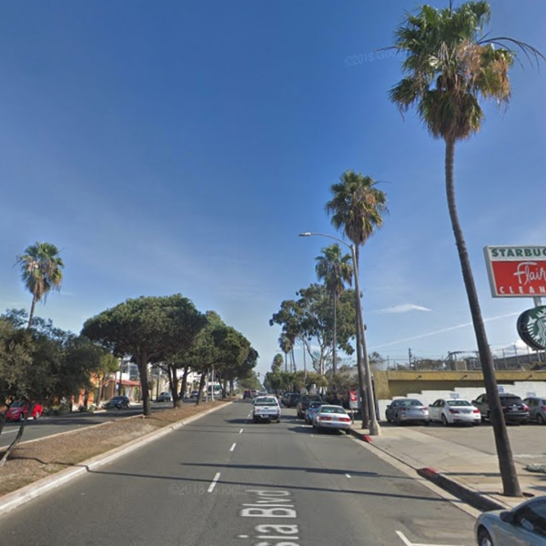 The area of Artesia Boulevard in Redondo Beach, where a woman was struck and killed in a hit-and-run crash on Sept. 3, 2018, is pictured in this undated image. (Credit: Google Maps)