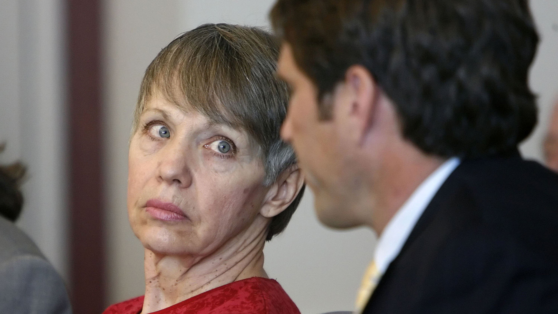 Wanda Barzee, pictured in court during a forced medication hearing in Salt Lake City, Utah, on February 16, 2006. (Credit: Steve Griffin-Pool/Getty Images)