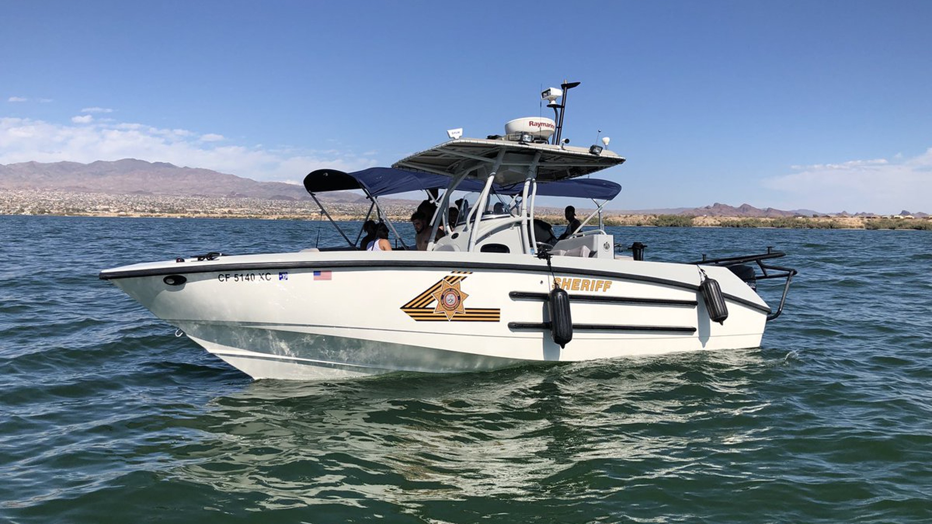 A San Bernardino County Marine Enforcement Unit -- this one out patrolling Lake Havasu on Sept. 1, 2018-- is seen in a photo released by the Sheriff's Department.