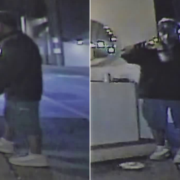 A man suspected of severely beating homeless people in downtown Los Angeles, resulting in the death of at least two, is seen in stills from surveillance video released Sept. 17, 2018, by Los Angeles police.