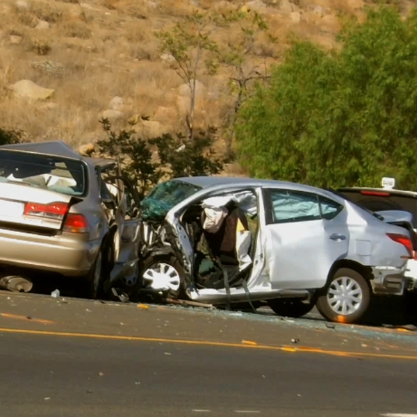 Three people died at the scene of a car crash in Lake Elsinore on Sept. 7, 2018. (Credit: RVC News)