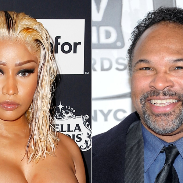 Nicki Minaj attends the Harper's BAZAAR Celebrates 'ICONS at The Plaza Hotel on Sept. 7, 2018 in New York City. Actor Geoffrey Owens attends the 9th annual TV Land Awards at the Javits Center in New York City on April 10, 2011. (Credit: Dominik Bindl and Michael Loccisano/Getty Images)