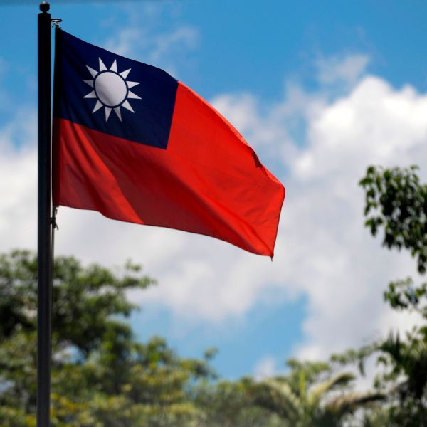 The Taiwan flag is seen at the embassy of Taiwan in San Salvador, El Salvador on Aug.21, 2018. (Credit: MARVIN RECINOS/AFP/Getty Images)