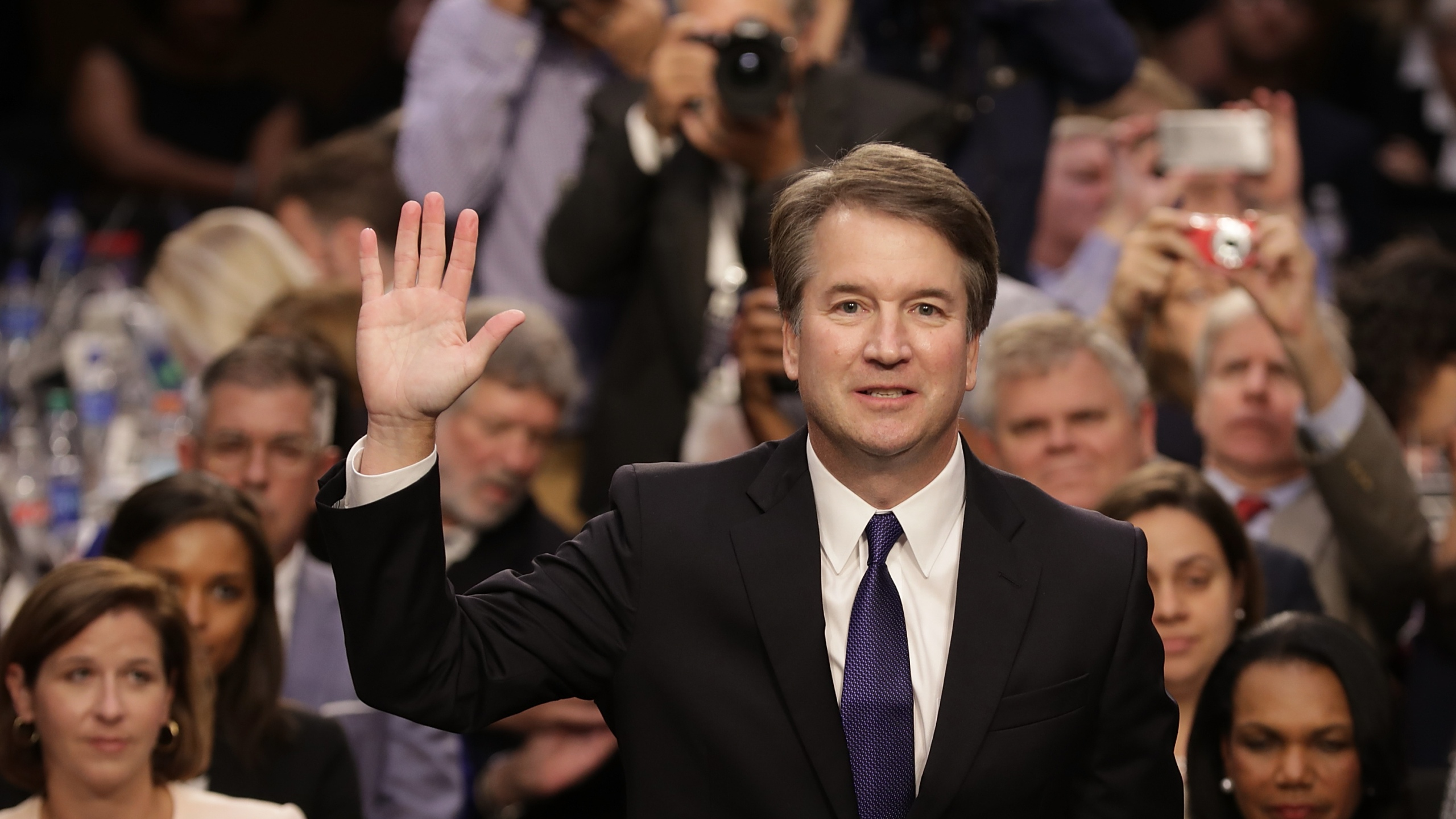 Supreme Court nominee Judge Brett Kavanaugh is sworn in before the Senate Judiciary Committee during his Supreme Court confirmation hearing in the Hart Senate Office Building on Capitol Hill on Sept. 4, 2018. (Credit: Chip Somodevilla/Getty Images)