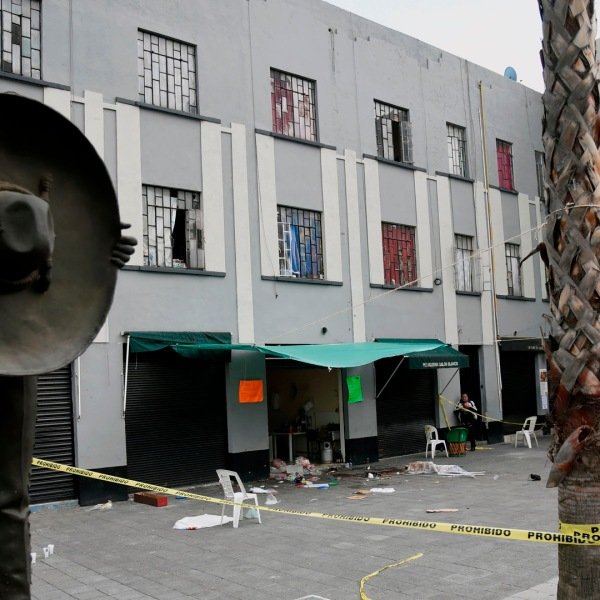 The Plaza Garibaldi square in downtown Mexico City is seen on Sept. 15, 2018, a day after gunmen dressed as mariachi musicians killed four people and wounded nine others.(Credit: ALFREDO ESTRELLA/AFP/Getty Images)