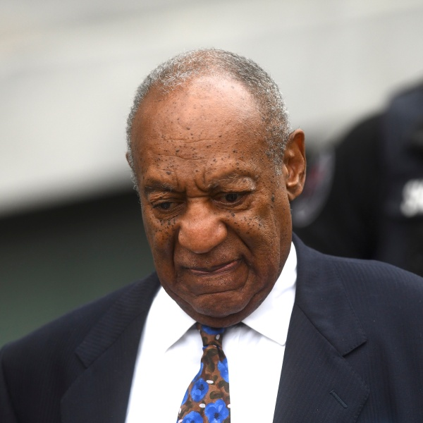 Bill Cosby departs the Montgomery County Courthouse on the first day of sentencing in his sexual assault trial on Sept. 24, 2018 in Norristown, Pennsylvania. (Credit: Mark Makela/Getty Images)
