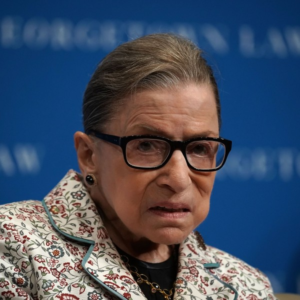 U.S. Supreme Court Justice Ruth Bader Ginsburg participates in a lecture Sept. 26, 2018 at Georgetown University Law Center in Washington, DC. (Credit: Alex Wong/Getty Images)