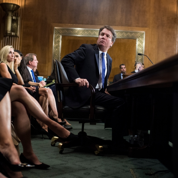 Judge Brett Kavanaugh testifies during the Senate Judiciary Committee hearing on his nomination be an associate justice of the Supreme Court of the United States. (Credit: Tom Williams / Getty Images)