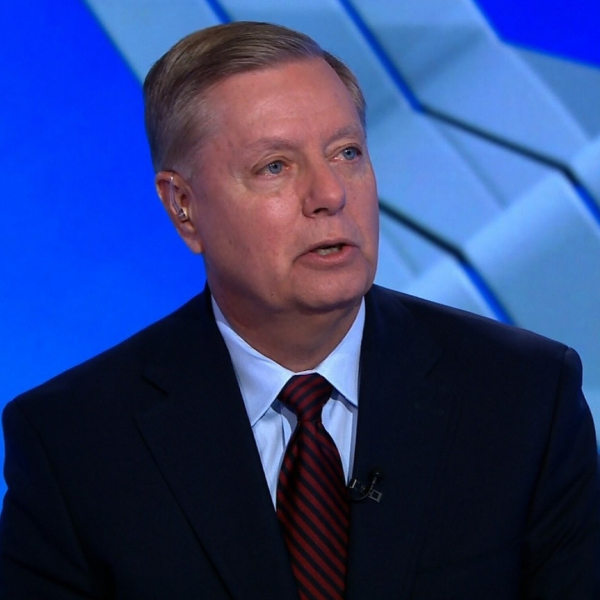 "South Carolina GOP Sen. Lindsey Graham appears on CNN's ""State of the Union"" on Sept. 2, 2018. (Credit: CNN)"