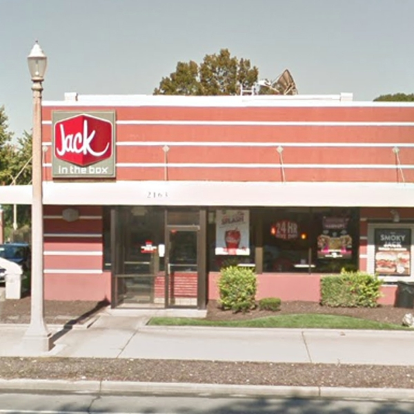 The Jack in the Box where the incident occurred is seen in a Google Maps image.