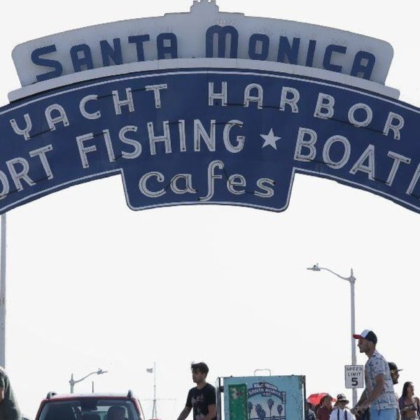 The Santa Monica Pier is seen in an undated photo. (Credit: Myung J. Chun / Los Angeles Times)