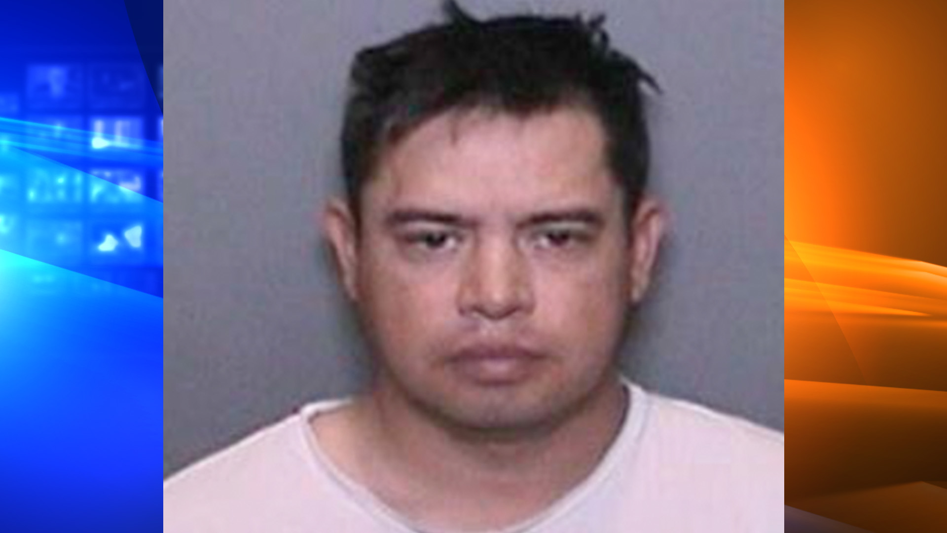 Wesley Gerardo Estrada De Leon is seen in a booking photo provided by the La Habra Police Department on Sept. 17, 2018.