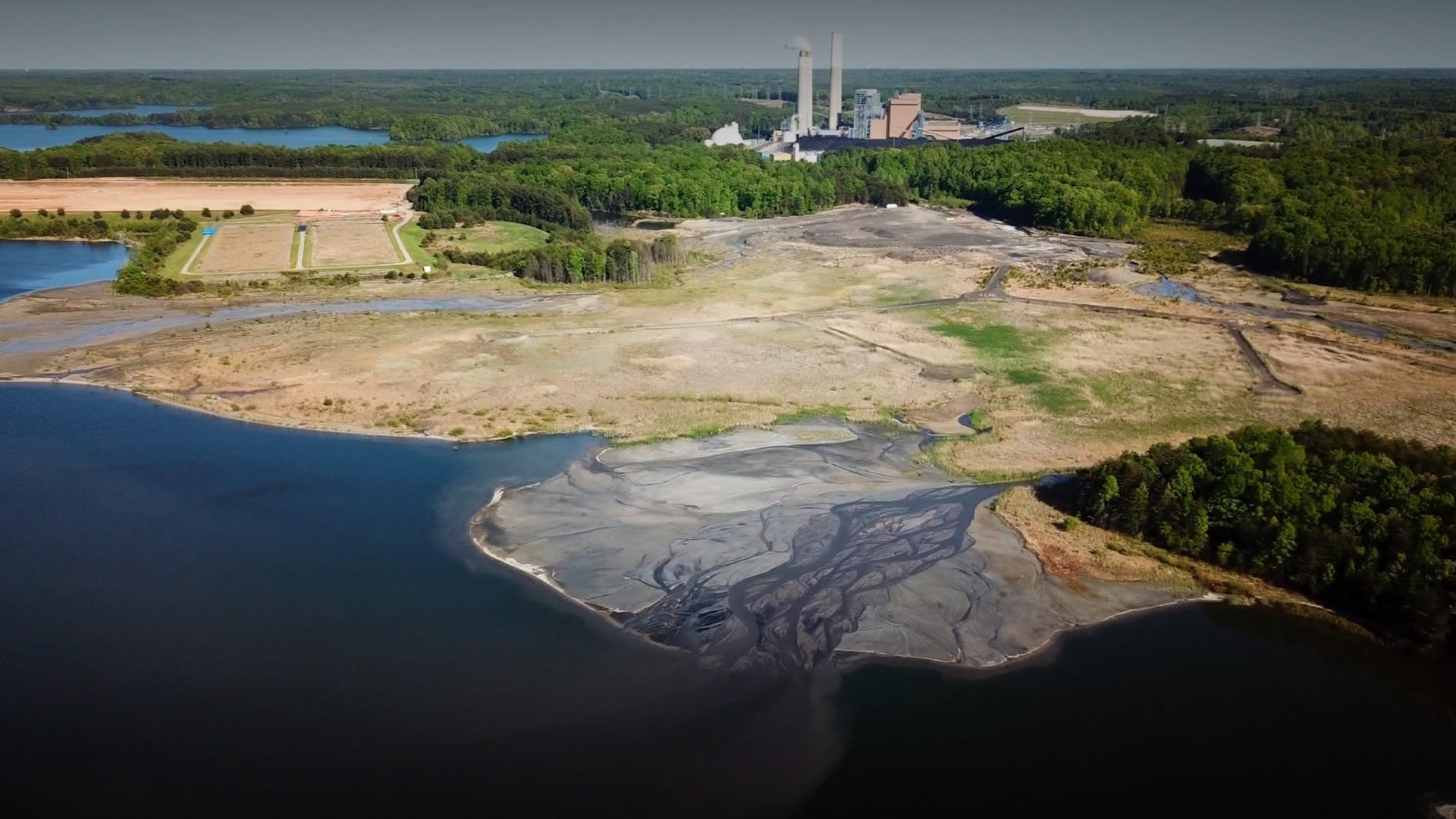 Coal burning power plants create coal ash, one of the largest forms of industrial waste. (Credit: CNN)