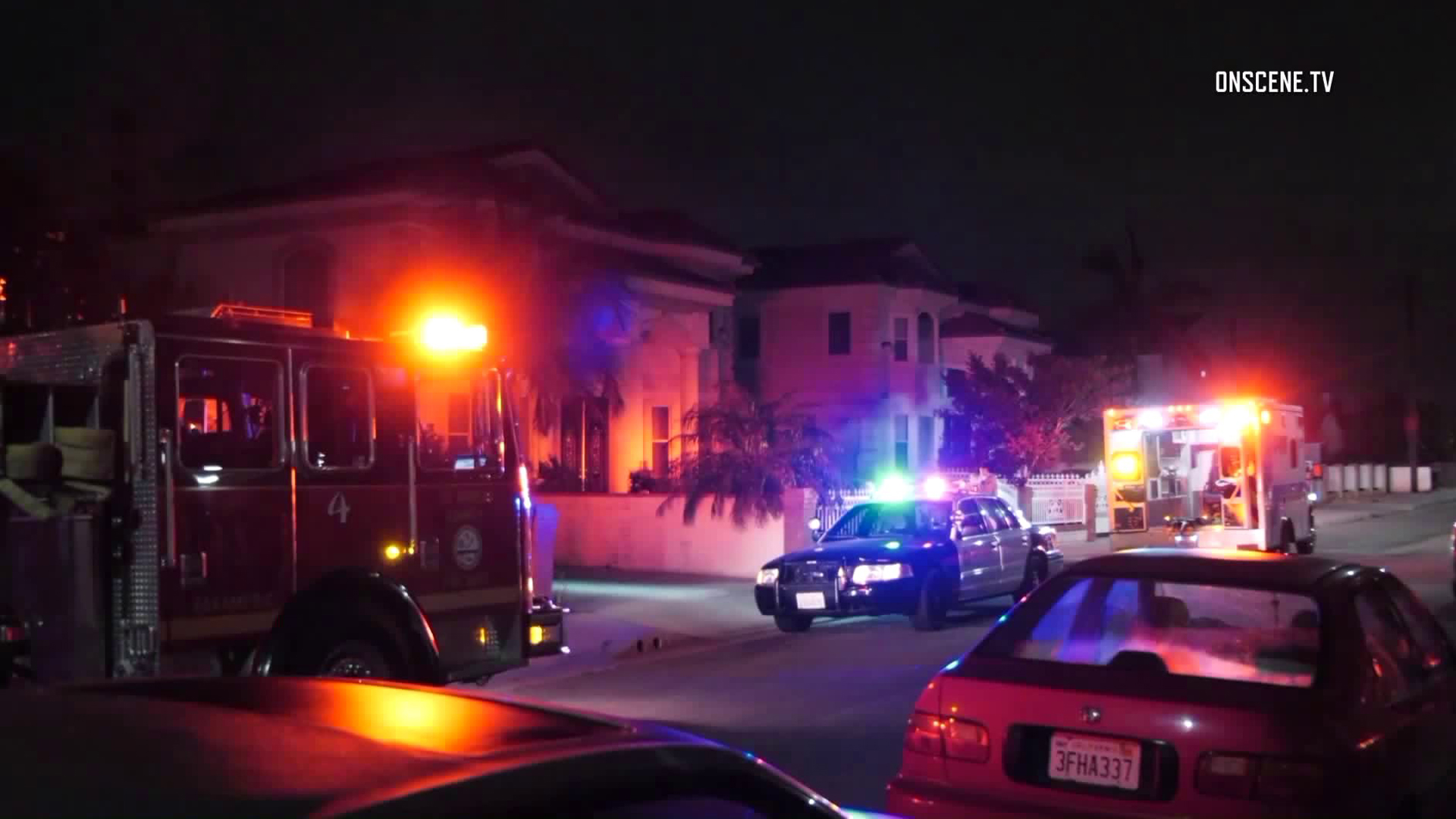 Police and fire officials respond to a home invasion in Rosemead on Sept. 11, 2018. (Credit: OnScene.TV)