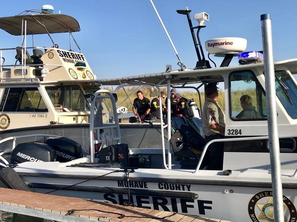 Four people are missing after two boats collided on the Colorado River along the California-Arizona border on Sept. 2, 2018. (Credit: Mohave County Sheriff's Department)