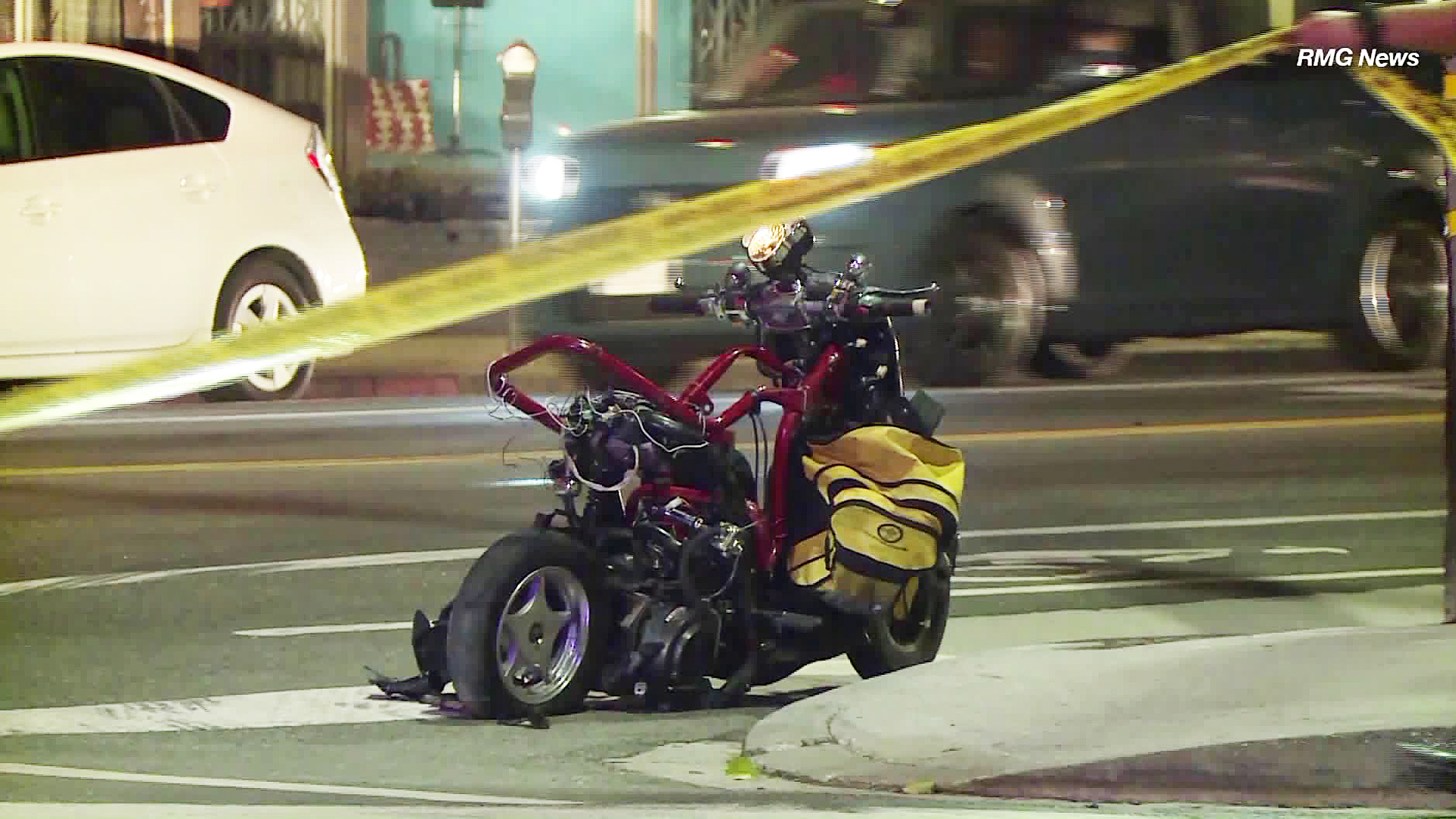 Two people were injured while riding on a scooter in Silver Lake on Sept. 4, 2018. The passenger later died from his injuries. (Credit: RMG News)