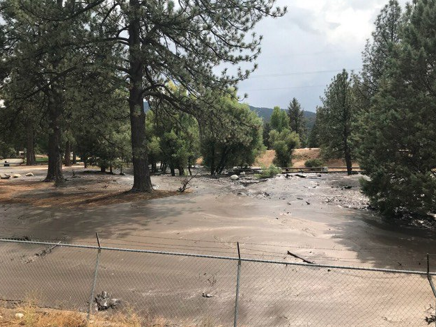 The Riverside County Emergency Management Department tweeted this image on Sept. 29, 2018 along with a warning for residents to prepare for expected rainfall and possible mudflow.