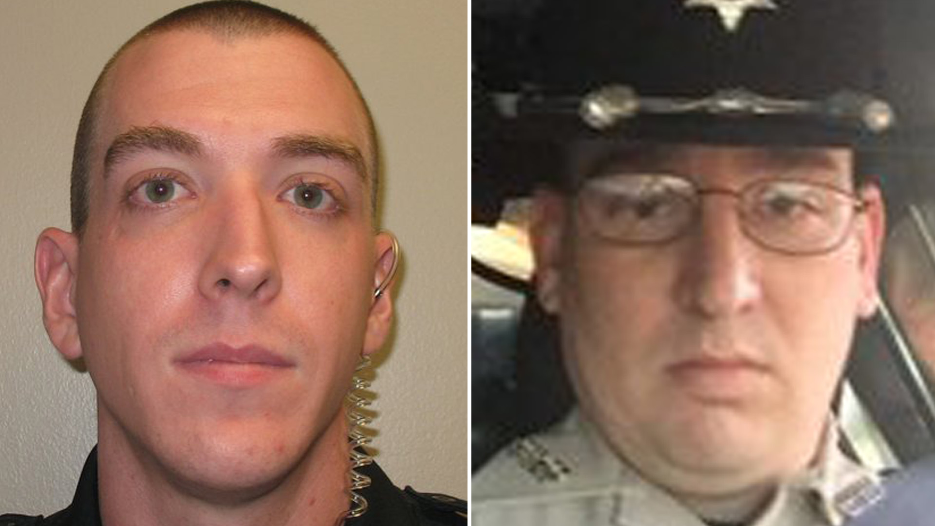 Officers Zack Moak and James White are seen in images obtained by CNN from the Mississippi Bureau of Investigations on Sept. 29, 2018.