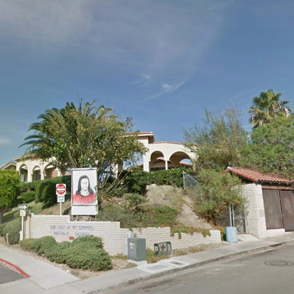 Our Lady of Mount Carmel Church, a Catholic church in San Ysidro, is seen in this undated image. (Credit: Google Maps)
