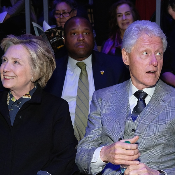 Hilary Clinton and Bill Clinton attend The Nearness Of You Benefit Concert at Jazz at Lincoln Center on January 25, 2017 in New York City. (Credit:Theo Wargo/Getty Images)
