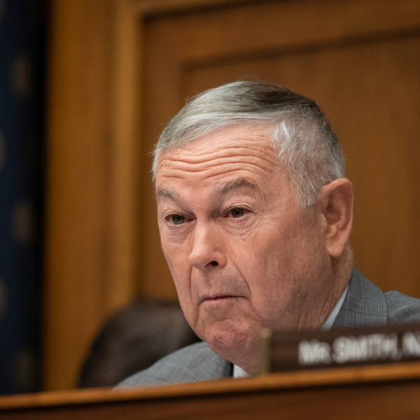 Rep. Dana Rohrabacher listens during a House Foreign Affairs Committee hearing concerning the genocide against the Burmese Rohingya, on Capitol Hill, Sept. 26, 2018. (Credit: Drew Angerer / Getty Images)
