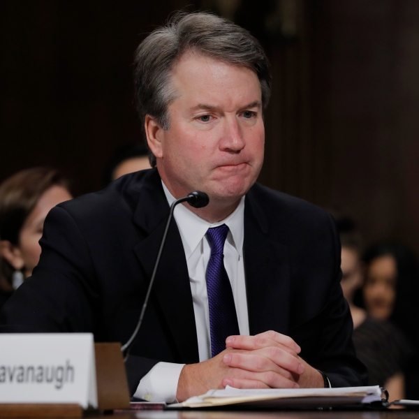 Judge Brett Kavanaugh testifies before the Senate Judiciary Committee during his Supreme Court confirmation hearing on Sept. 27, 2018. (Credit: Jim Bourg-Pool/Getty Images)