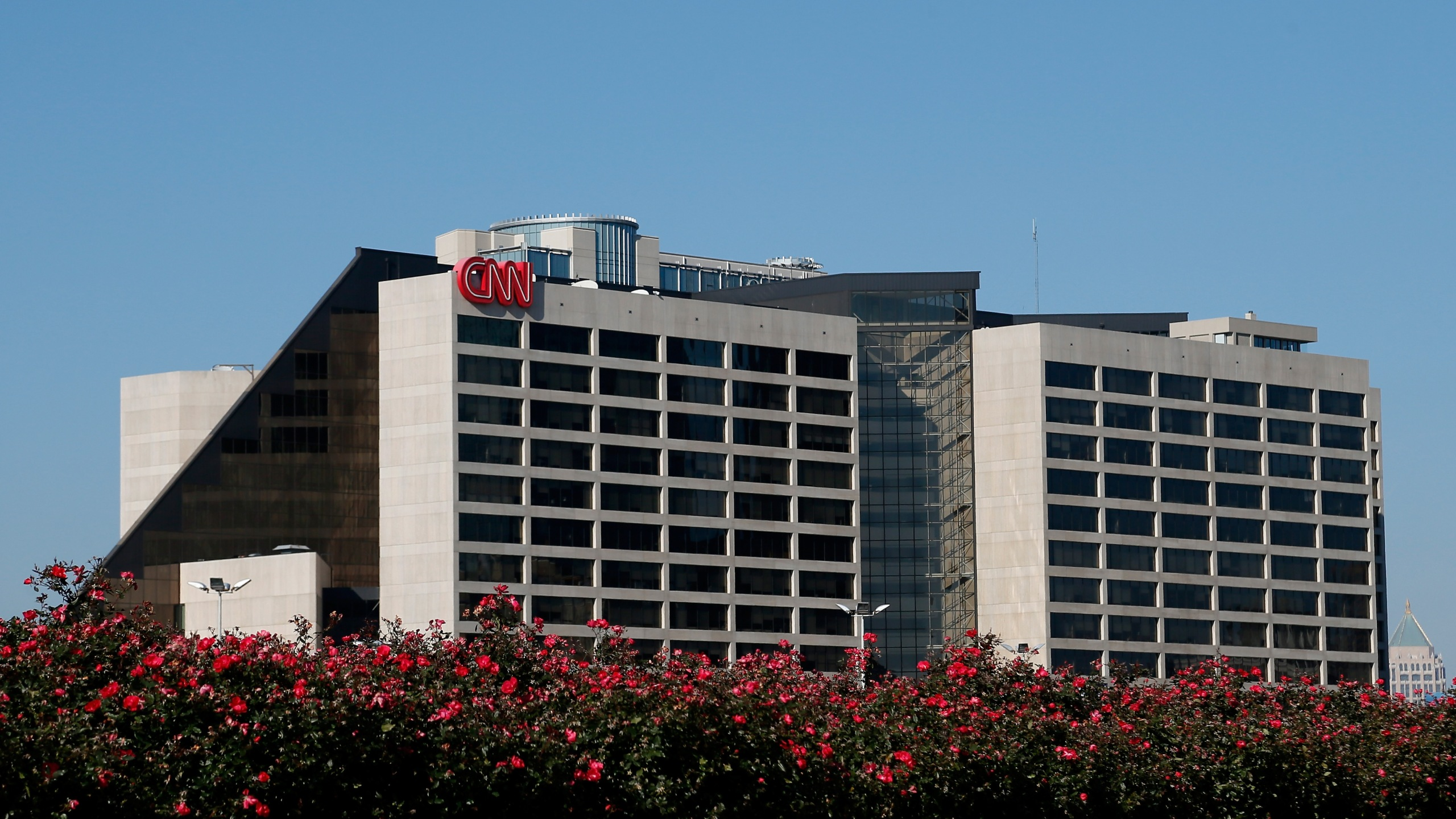 The CNN Center building stands on November 29, 2012 in Atlanta, Georgia. (Credit: Kevin C. Cox/Getty Images)