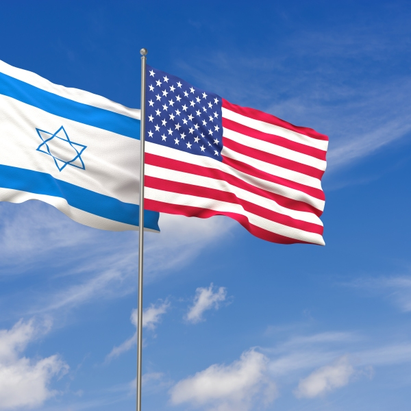 Flags for the U.S. and Israel are seen in this illustration. (Credit: iStock/Getty Images Plus)