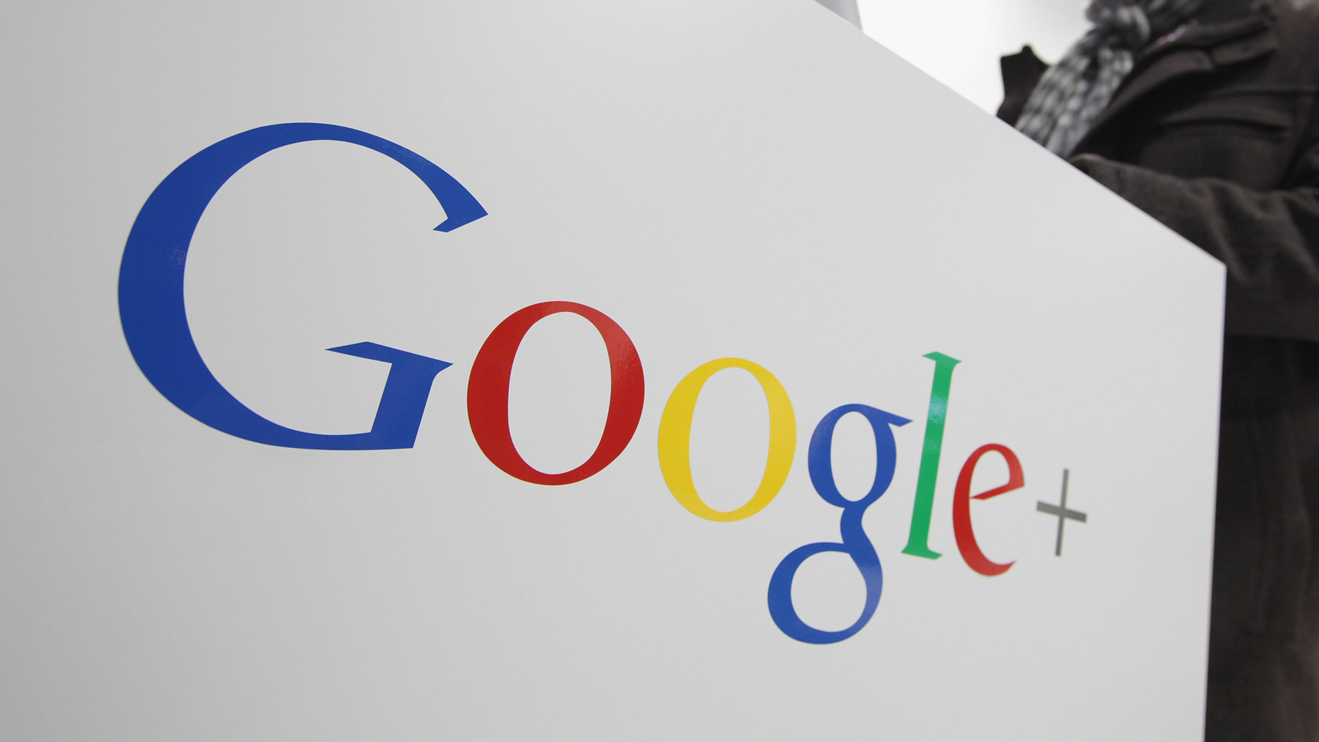 A Google+ sign is seen in a file photo. (Credit: Sean Gallup/Getty Images)