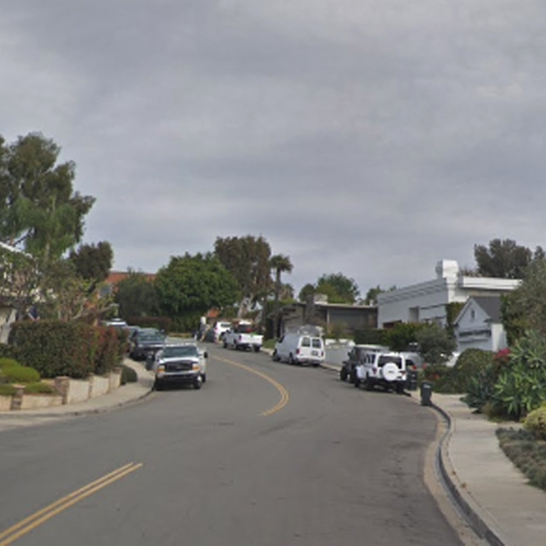 The 700 block of Malabar Drive in the Corona del Mar neighborhood of Newport Beach is seen in a Google Maps Street View image from November 2017.