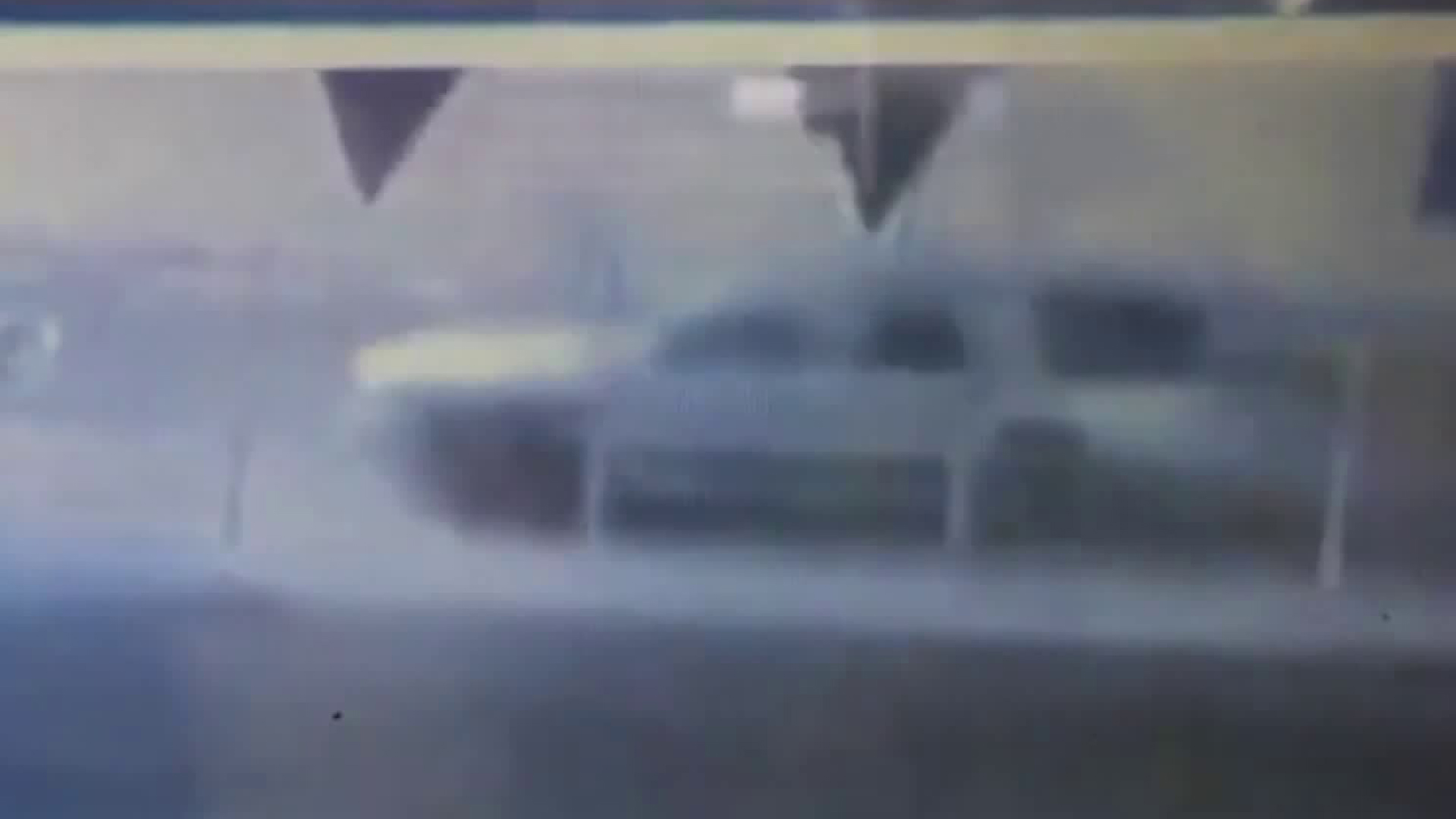 This still from surveillance video provided by LAPD on Oct. 28, 2018, shows a truck believed to have been involved in a hit-and-run in downtown L.A. that left two men in critical condition the night before.