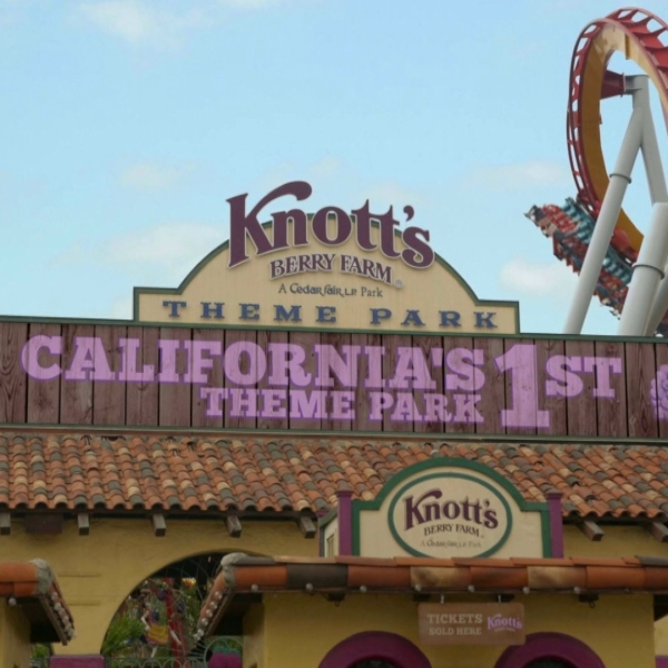 The entrance to Knott's Berry Farm is an image from handout video.