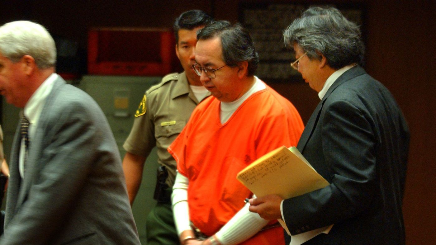 Carlos Rene Rodriguez appears in a Los Angeles courtroom in 2003. (Credit: Richard Hartog / Los Angeles Times)